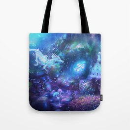 Water Dragon Kingdom Tote Bag