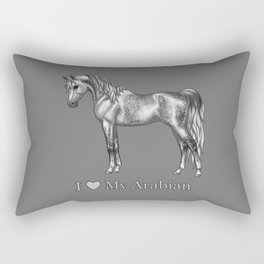 Dapple Gray Horse I Love My Arabian Rectangular Pillow
