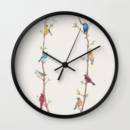Bird Branches Wall Clock