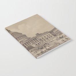 Vintage US Capitol Building Illustration (1882) Notebook
