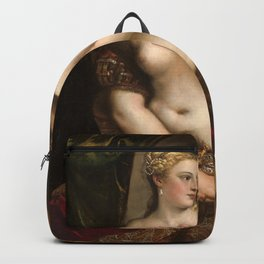 Classic Art - Venus with a Mirror - Titian Backpack