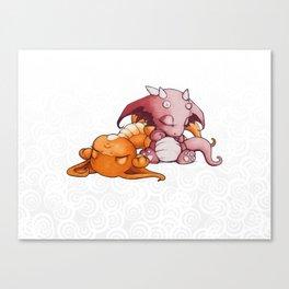 Snoozing Canvas Print