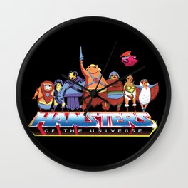Hamsters Of The Universe Wall Clock