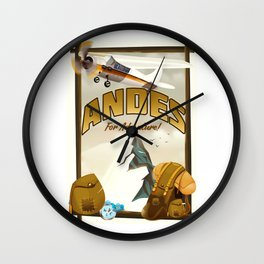 """Andes """"For Adventure!"""", Wall Clock"""