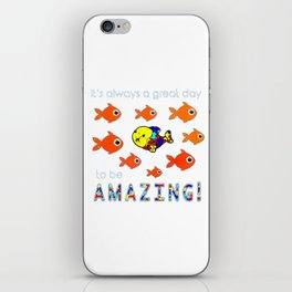 Autism It's Always A Great Day To Be Amazing T-Shirt iPhone Skin