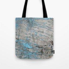 Peeled Blue Paint on Wood rustic decor Tote Bag