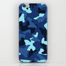 Blue marine army camo camouflage pattern iPhone Skin