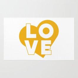 LOVE & heart // mustard Rug