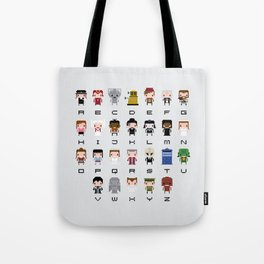 Doctor Who Alphabet Tote Bag