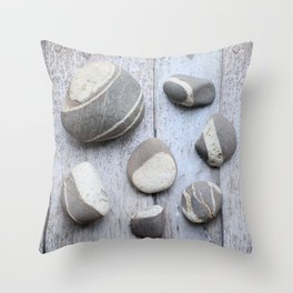 Clovelly Pebbles Throw Pillow