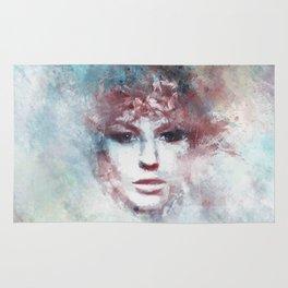 Girl face painting ART Rug