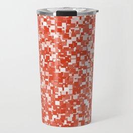 Tangerine Tango Pixels Travel Mug