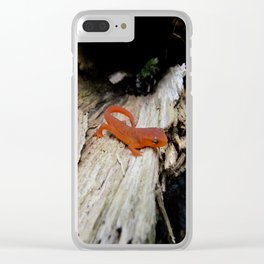 Red Newt Clear iPhone Case