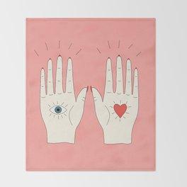 Raising Hands Throw Blanket