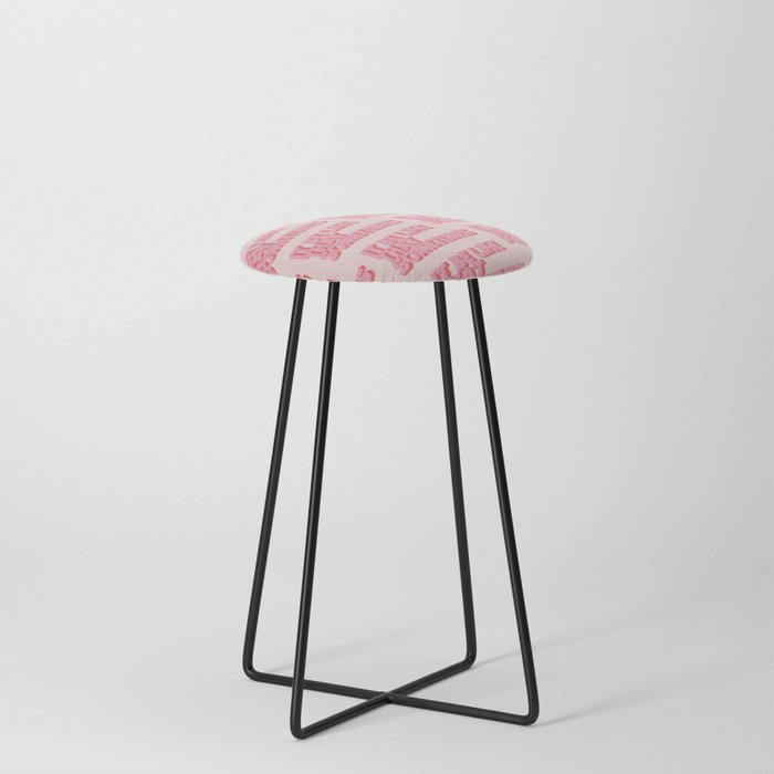 """It be like that sometimes"" Pink Counter Stool"