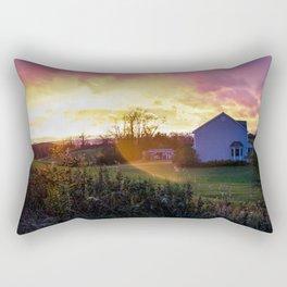 SUNSET ON THE FIELD Rectangular Pillow