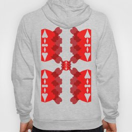 abstract red pattern Hoody