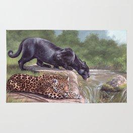 Jaguars Painting Rug