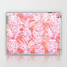 FLESHED OUT Tropical Pink Pineapples Laptop & iPad Skin