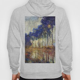 Poplars on the Bank of the Epte River by Claude Monet Hoody