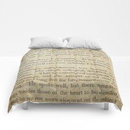 Pride and Prejudice  Vintage Mr. Darcy Proposal by Jane Austen   Comforters