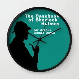Casebook of Sherlock Holmes Book Cover Wall Clock