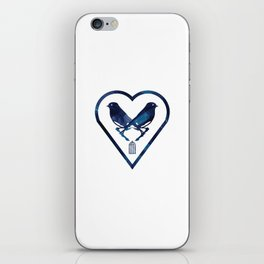 There's A Bluebird In My Heart That Wants To Get Out iPhone Skin