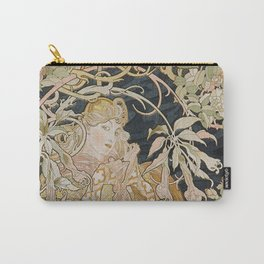 1898 - 1900 Femme a Marguerite by Alphonse Mucha Carry-All Pouch