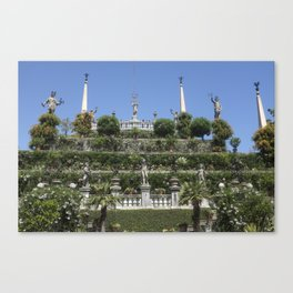 Gardens of Borromeo Palace on Isola Bella, Stresa,Italy. Canvas Print