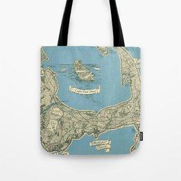 Vintage Map of Cape Cod (1945)  Tote Bag