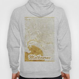 Melbourne Map Gold Hoody