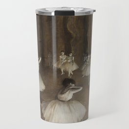 Ballet Rehearsal on Stage by Edgar Degas Travel Mug