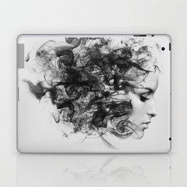 women and smoke, black and white Laptop & iPad Skin