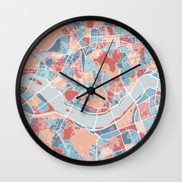 Seoul map Wall Clock