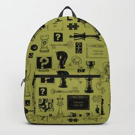 Brain Teaser pattern Backpack
