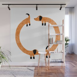 Sausage Dogs Wall Mural