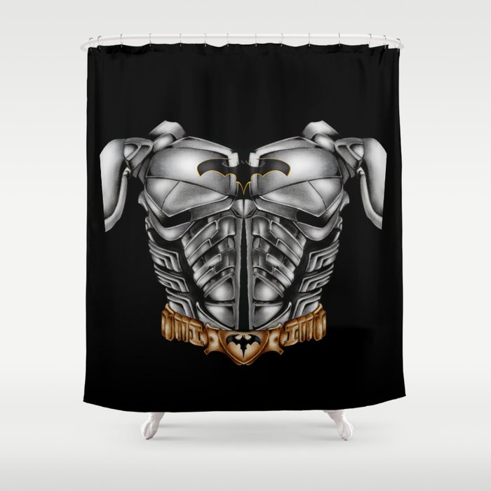Super Heroes Bruce Wayne suit Shower Curtain
