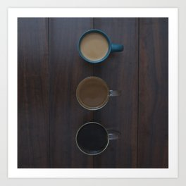 Café, S'il Vous Plait Art Print