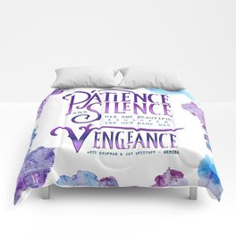 PATIENCE AND SILENCE Comforters