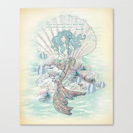 Anais Nin Mermaid [vintage inspired] Art Print Canvas Print