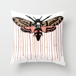 Death's-head hawkmoth Throw Pillow