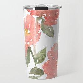 Loose watercolor peonies Travel Mug