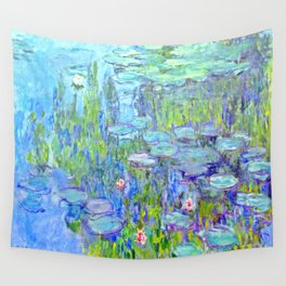 Water Lilies monet : Nympheas Wall Tapestry
