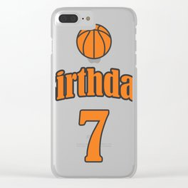 7th Birthday Basketball Funny Boy Girl Kids Gift Clear iPhone Case