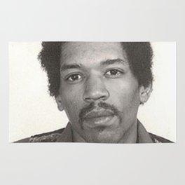 Jimi Hendrix Mugshot Rug