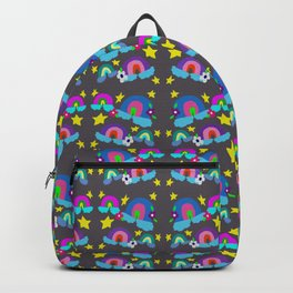 Little Rainbows and Stars Grey Backpack