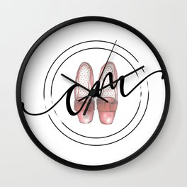 Caitlyn Manfre Designs Logo Wall Clock