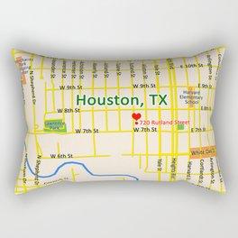 Map of Houston TX #1 Rectangular Pillow