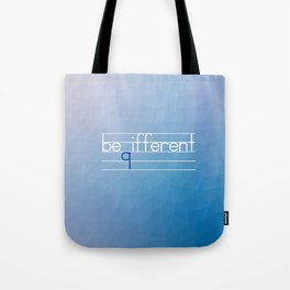 Be Different Typography Design Tote Bag