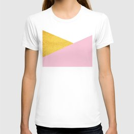Gold & Pink Geometry T-shirt